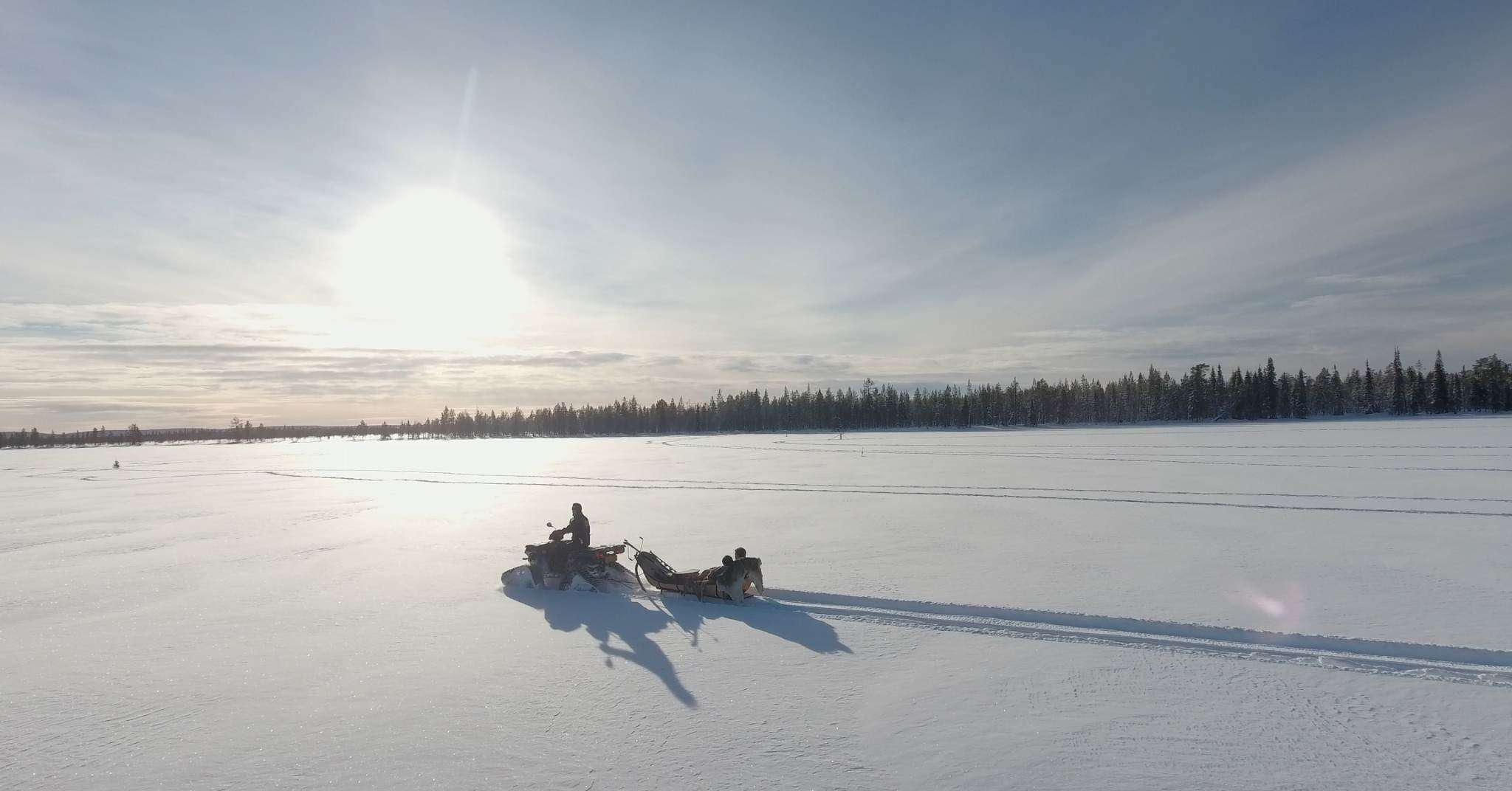Atv Sledge ride Lapland Lodge